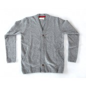Pull Shark Cardigan Light Grey